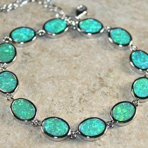 Jewelry - Green Fire Opal Oval Bracelet